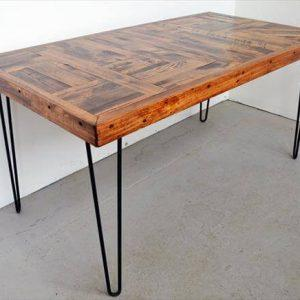 repurposed pallet kitchen dining table