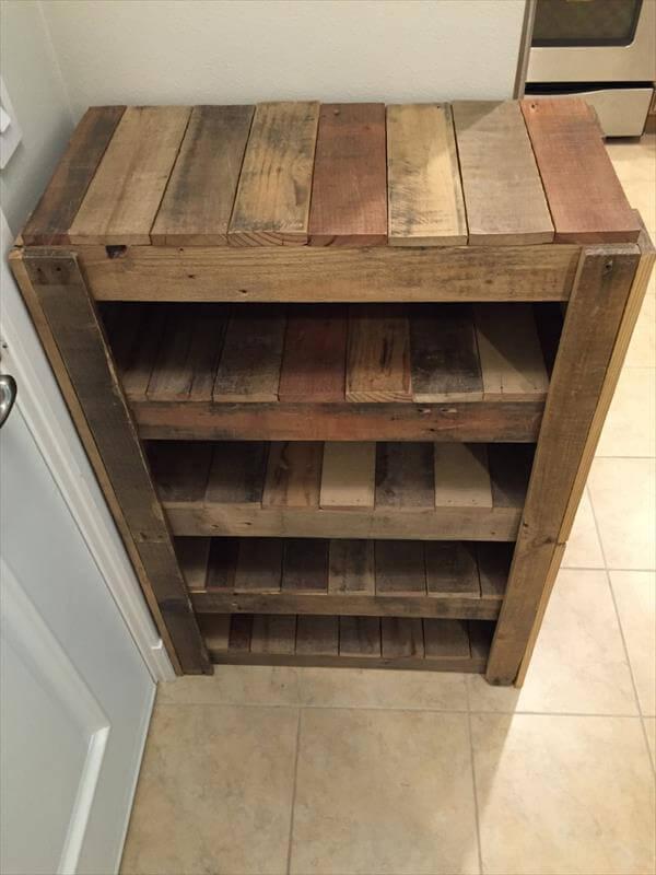 handmade wooden pallet shoes rack Advertisements DIY