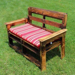 repurposed pallet garden bench