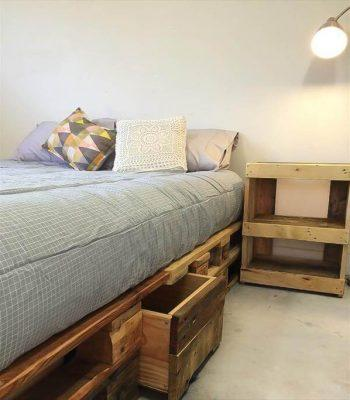 no-cost EURO pallet bed frame with storage