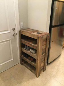 DIY Entryway Shoe Rack – 100% Reclaimed Pallets