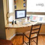 wooden pallet wall hanging corner desk