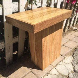 handmade wooden pallet sleek side table or mini coffee table