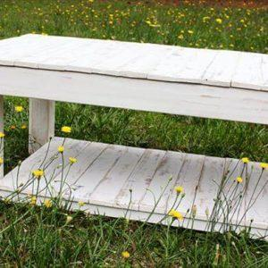 diy pallet white washed coffee table