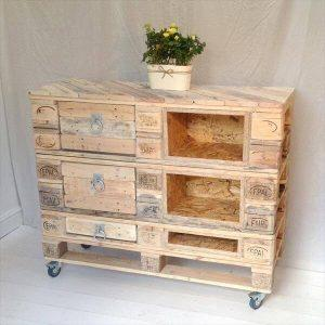 wooden pallet chest of drawers