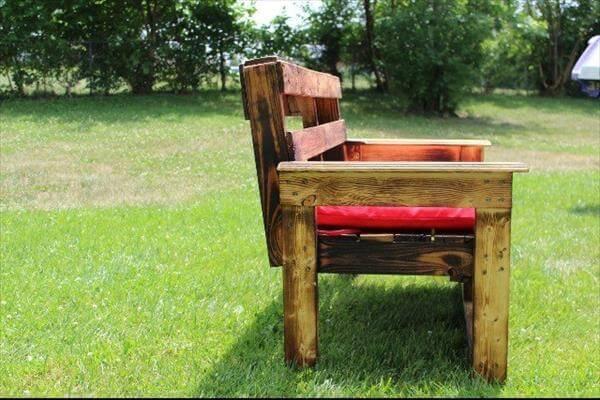 Enjoyable Diy Large Pallet Garden Bench 101 Pallets Lamtechconsult Wood Chair Design Ideas Lamtechconsultcom