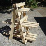 handmade wooden pallet ladder style display unit