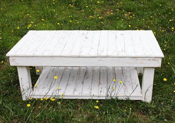 Pallet Farmhouse Style Coffee Table 101 Pallets