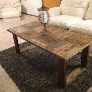 Reclaimed pallet vintage coffee table