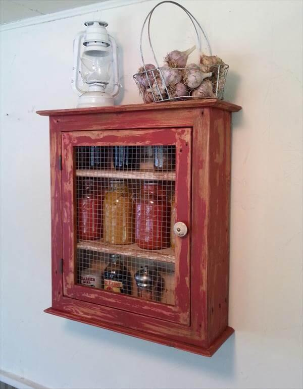 diy pallet wall cabinet