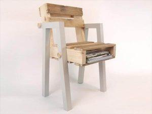 recycled pallet wood chair