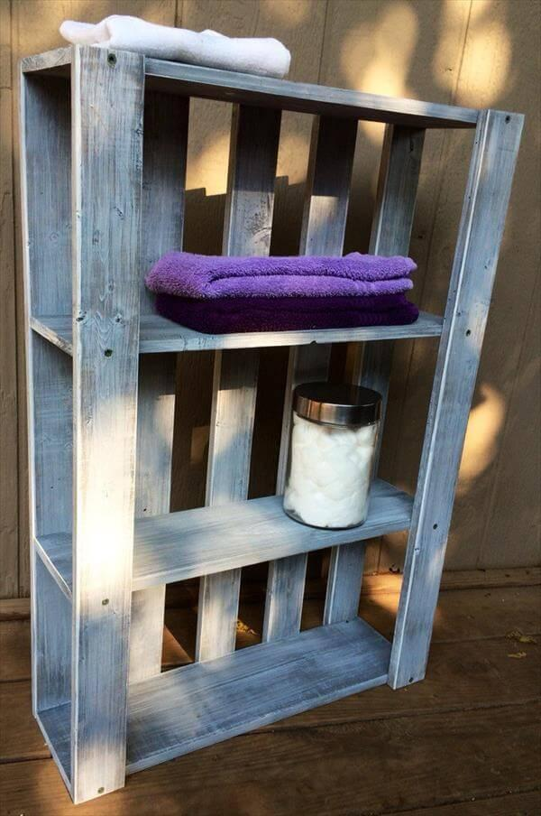 Diy Pallet Art Style Wall Shelves 101 Pallets