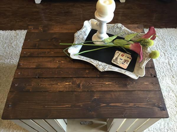 wooden pallet country style coffee table