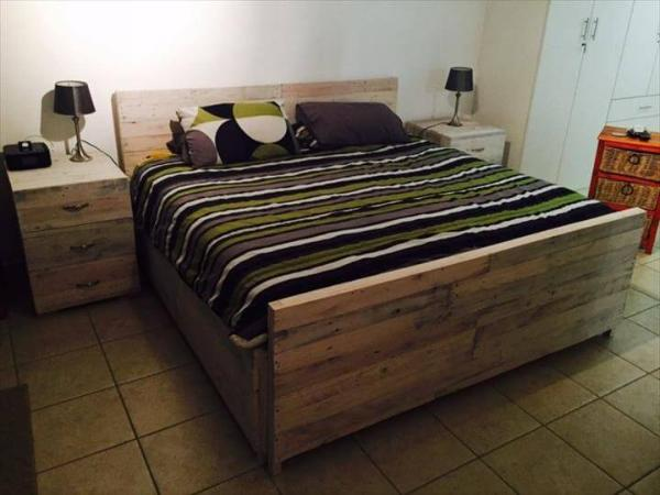 ideas projects bed designs bedroom wood pallet medium furniture recycled wooden of frame pallets images set