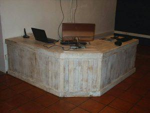 Pallet Reception Desk and a Table