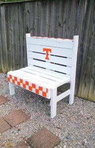 chic white pallet bench