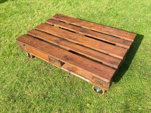 Pallet Coffee Table / TV Stand with Casters