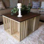 pallet and crate coffee table