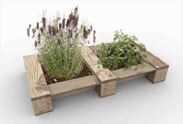 wooden pallet double garden vase