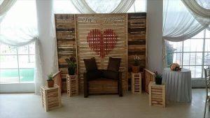 DIY Pallet Wedding Stage / Wall / Room Divider