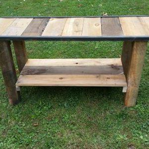 wooden pallet media or entry console table