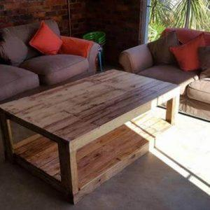 handmade wooden pallet coffee table