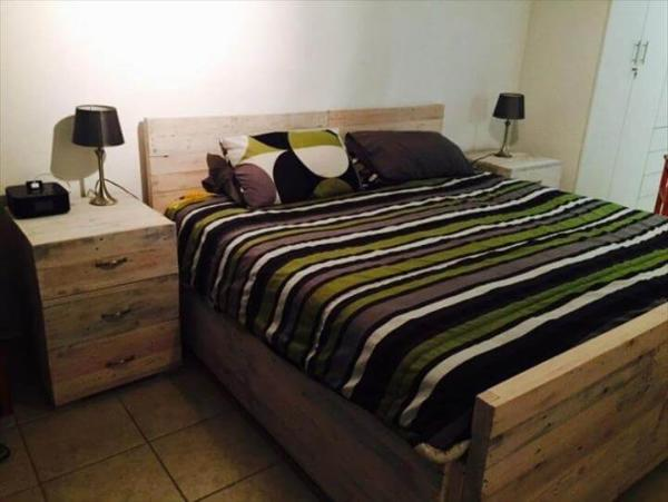 pallet bedroom set diy wooden pallet bed set 101 pallets 12787