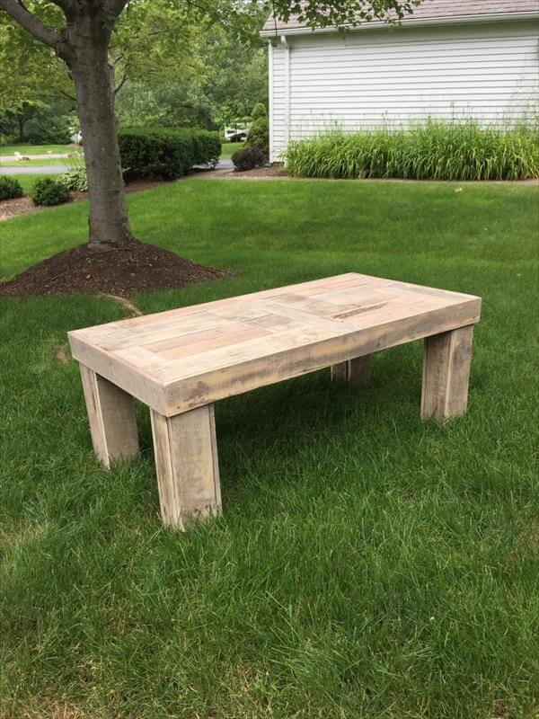 rustic blank wooden pallet coffee table