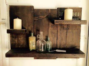 Antique Pallet Shelf / Toiletries Organizer