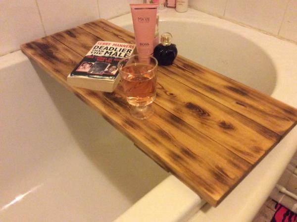 Wooden Pallet Bath Tub Tray – 101 Pallets
