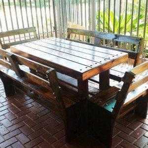 pallet patio dining set