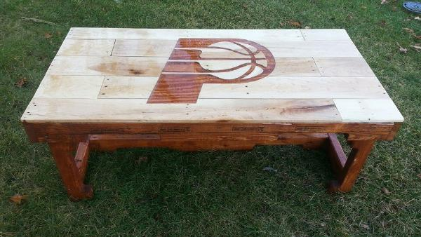 personalized wooden pallet coffee table