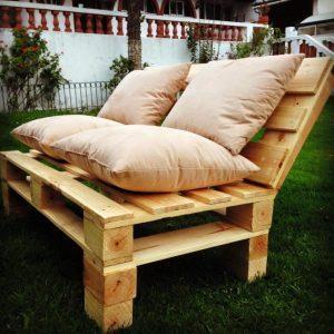 wooden pallet outdoor sofa set