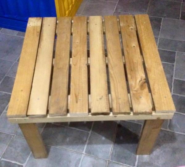 miniature wooden pallet coffee table