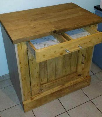 pallet night stand with drawers