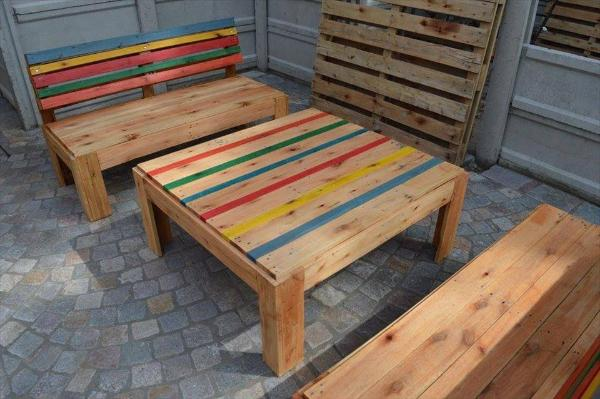 diy pallet outdoor furniture set