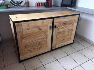 Pallet Wood Sideboard / Kitchen Cabinets