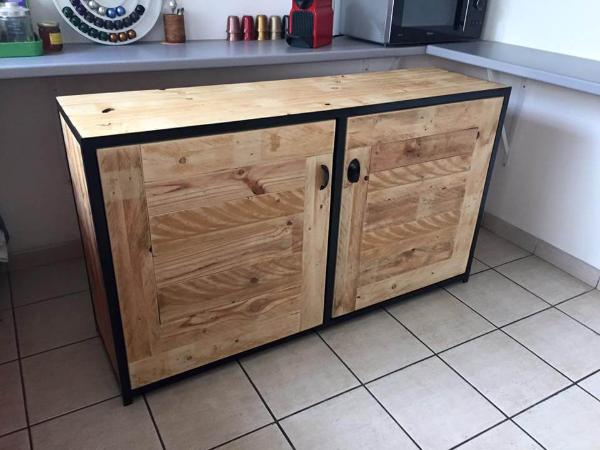 kitchen cabinets made from pallets pallet wood sideboard kitchen cabinets 101 pallets 20757