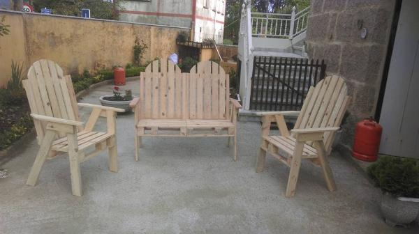 rustic pallet Adirondack chair set