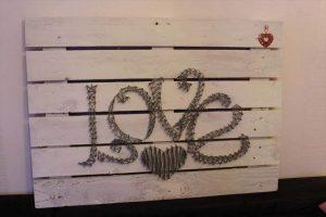 diy pallet and twine love wall art