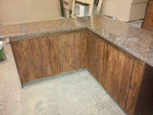 Pallet Kitchen Counters with Storage Cabinets