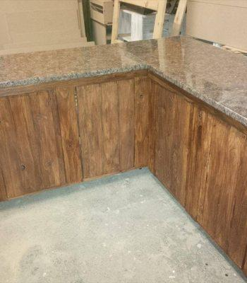 wooden pallet kitchen counter