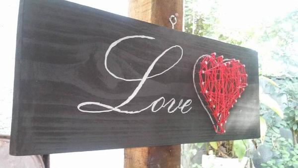 upcycled wooden pallet love wall art or sign