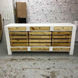 Pallet TV Stand / Cabinets and Drawers