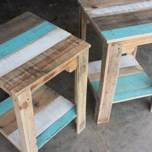 wooden pallet nightstands or side tables