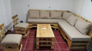 Pallet Seating Furniture Plans and Sectional Sofa