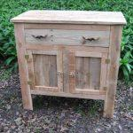 upcycled wooden pallet cabinet or sideboard