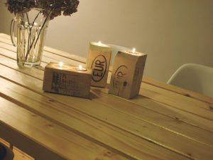 Creative Pallet Candle Holders