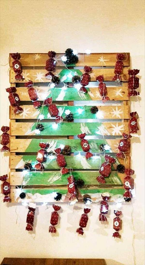 pallet candy tree decor