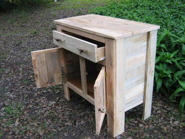 salvaged pallet cabinet